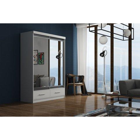 ARKOS Skříň MASSIMO 150 se zrcadlem, bílá 150x216x62 Bílá / Zrcadlo