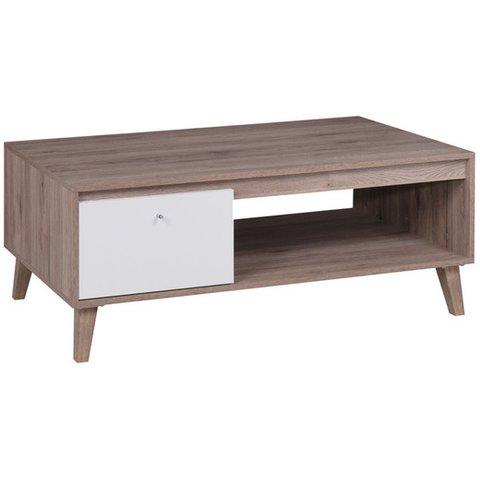 GIB Konferenční stolek OLIVERIO dub san remo 120x46,5x65 dub san remo tmavý / bílá