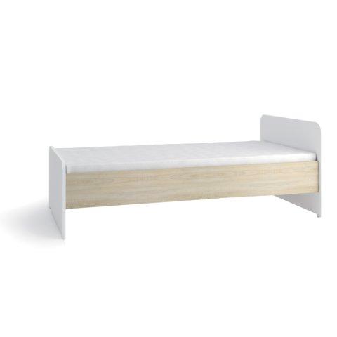 GIB Postel TUNIS II bez úložného prostoru, dub sonoma/bílá 95x75x205 Dub sonoma / bílá
