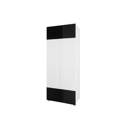 GIB Skříň GLORIA 80, bílá/černá 80x200x52 Bílá / Bílá + černá