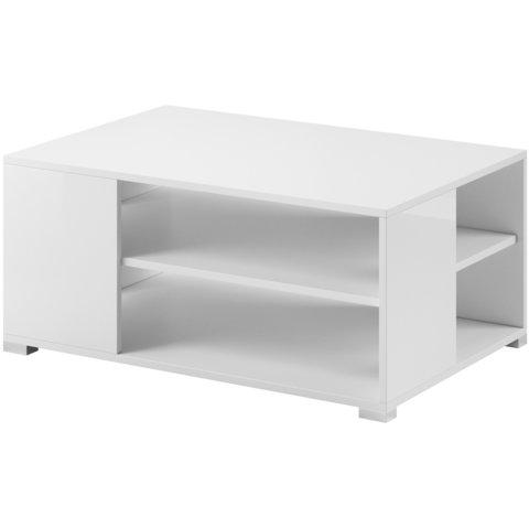 PIASKI Konferenční stolek STONE, bílá/bílý lesk 90x45x60 bílá / bílý lesk