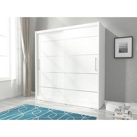 PIASKI skříň MARY ALU 180, bílá 180x200x62 bílá / bílá