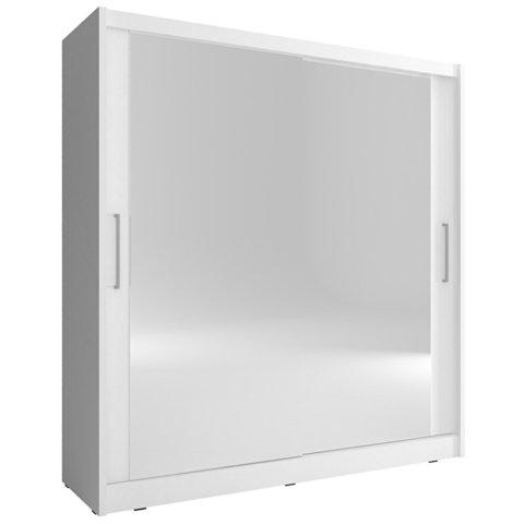 PIASKI skříň MARY VI 180, bílá 180x200x62 bílá / bílá
