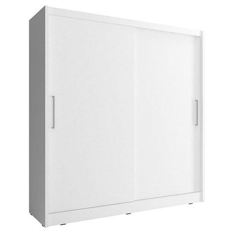 PIASKI skříň WENDY 180 180x200x62 bílá / bílá