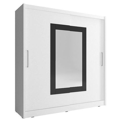 PIASKI skříň WENDY II 180, bílá 180x200x62 bílá / bílá