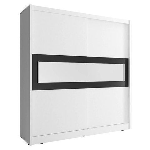 PIASKI skříň WENDY IV 180, bílá 180x200x62 bílá / bílá