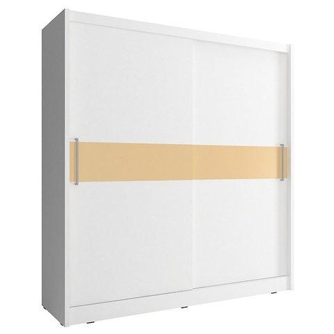 PIASKI skříň WENDY V 180, bílá 180x200x62 bílá / bílá