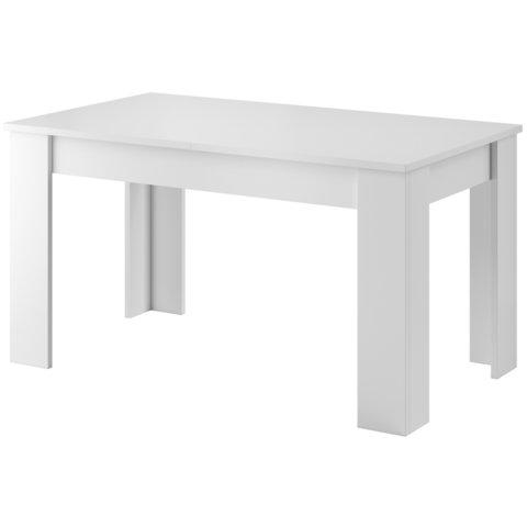 PIASKI Jídelní rozkládací stůl STONE, bílá/bílý lesk 140-180x75x80 bílá / bílý lesk