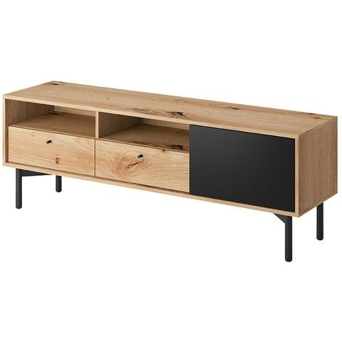 PIASKI Tv stolek FAY, dub artisan/černá 151x53x41 dub artisan / černá