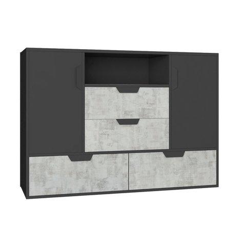 MEBLAR komoda NOEL 7 120x85x40 grafit + enigma