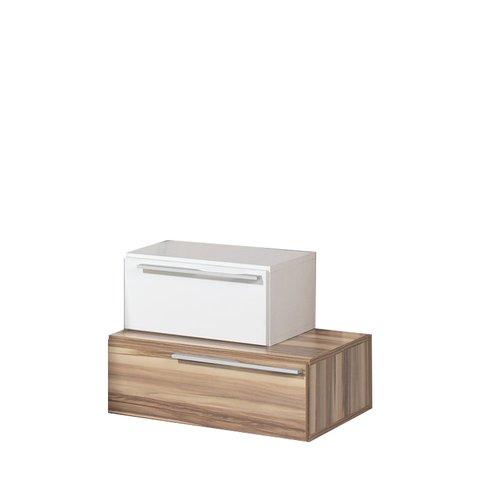 MEBLAR noční stolek MARIANNA 51x38x44 bílá / ořech baltimore