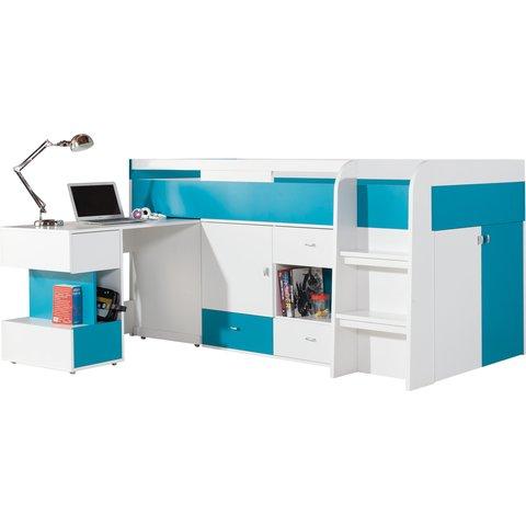 vývýšená postel s PC stolem MARIO 21