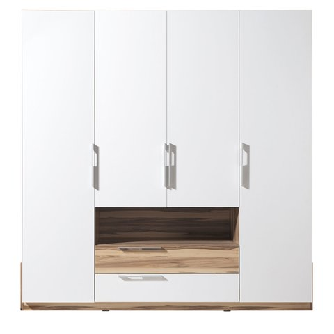 MEBLAR skříň MARIANNA 210 x215x60 bílá / ořech baltimore