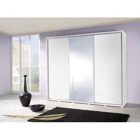 MARIDEX skříň PAULA 255 se zrcadlem, bílá 255x215x66 bílá