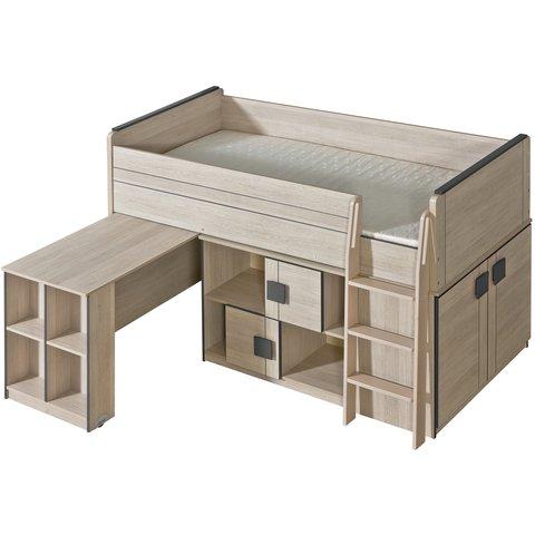 vyvýšená postel s psacím stolem GULIVER 19