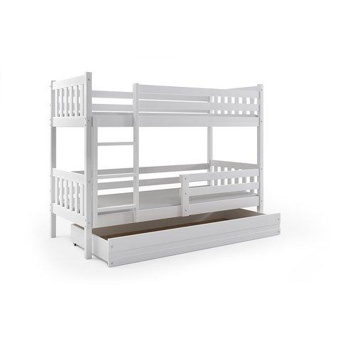 BMS Patrová postel s úložným prostorem CHARLIE 2 bílá