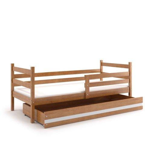 BMS Dětská postel s úložným prostorem EMILY 1 olše / bílá