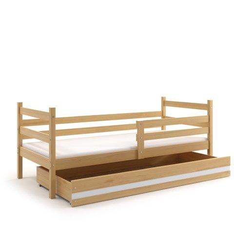 BMS Dětská postel s úložným prostorem EMILY 1 borovice / bílá