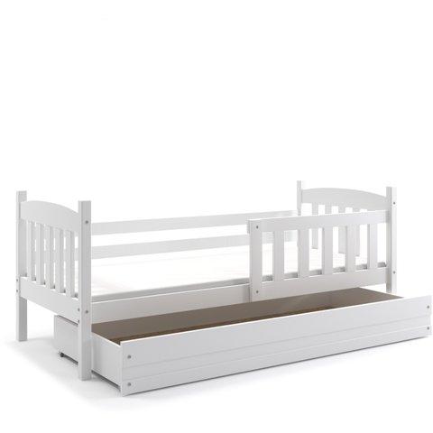 BMS Dětská postel s úložným prostorem KRYŠTOF 1 bílá / bílá