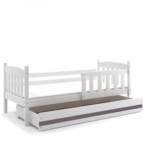 BMS Dětská postel s úložným prostorem KRYŠTOF 1 bílá / grafit