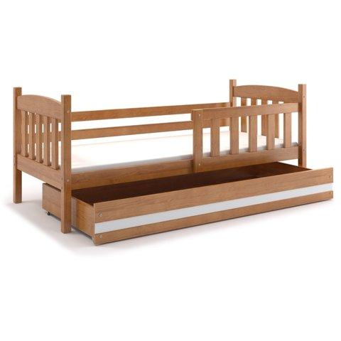 BMS Dětská postel s úložným prostorem KRYŠTOF 1 olše / bílá