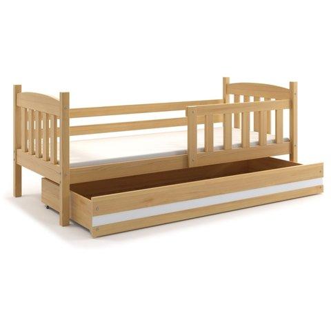 BMS Dětská postel s úložným prostorem KRYŠTOF 1 borovice / bílá