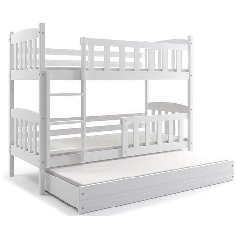 Patrová postel s přistýlkou KRYŠTOF 3 bílá