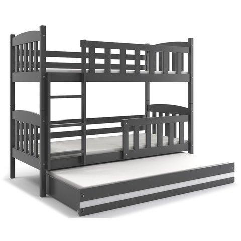 Patrová postel s přistýlkou KRYŠTOF 3 grafit