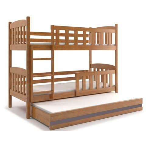 Patrová postel s přistýlkou KRYŠTOF 3 olše