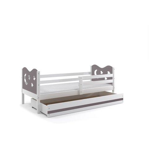BMS Dětská postel s úložným prostorem MÍŠA 1 bílá / grafit
