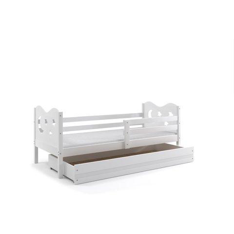 BMS Dětská postel s úložným prostorem MÍŠA 1 bílá / bílá