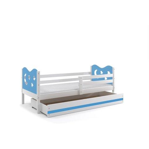 BMS Dětská postel s úložným prostorem MÍŠA 1 bílá / modrá