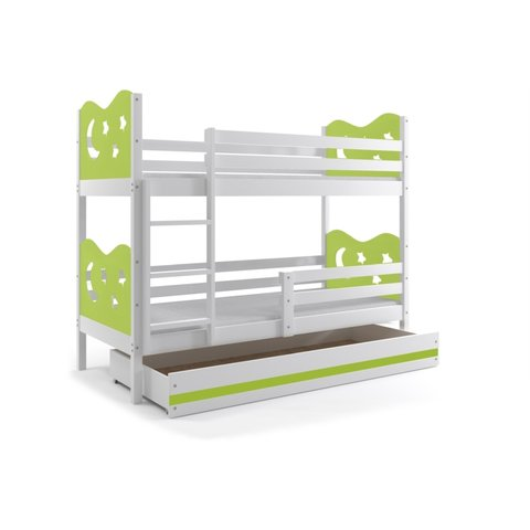 Dětská patrová postel MÍŠA 3 s úložným prostorem