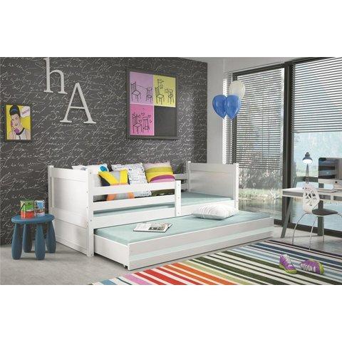 BMS Dětská postel s přistýlkou ROCKY 2, bílá bílá / bílá