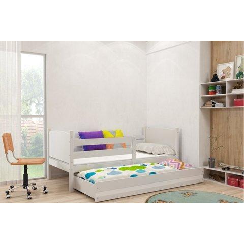 BMS Dětská postel s přistýlkou TOMMY 2, bílá bílá / bílá