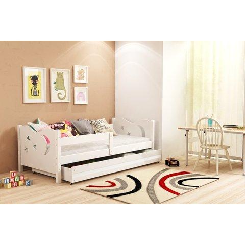 BMS Dětská postel s úložným prostorem MARTIN bílá / bílá